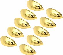 10pack 76mm Polished Gold Cup Handle Cupboard
