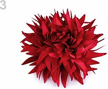 10pc 3 Light Wine Red Textile Flower Applique Ø9