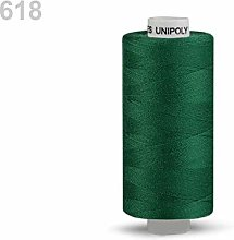 10pc 618 Green Polyester Threads 500m Unipoly,