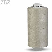 10pc 782 Greycream Polyester Threads 500m Unipoly,