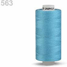 10pc Air Blue Polyester Threads 500m Unipoly,