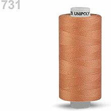 10pc Amber Polyester Threads 500m Unipoly, Sewing,