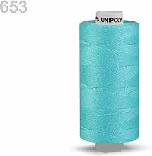 10pc Baby Blue Polyester Threads 500m Unipoly,
