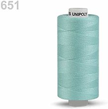10pc Blue Glass Polyester Threads 500m Unipoly,