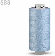 10pc Cashmere Blue Polyester Threads 500m Unipoly,
