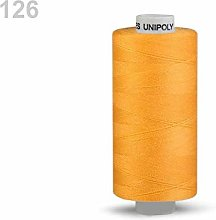 10pc Cyber Yellow Polyester Threads 500m Unipoly,