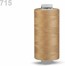 10pc Honey Mustard Polyester Threads 500m Unipoly,