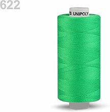 10pc Jasmine Green Polyester Threads 500m Unipoly,