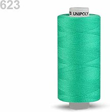 10pc Kelly Green Polyester Threads 500m Unipoly,