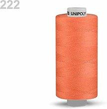 10pc Sun Orange Polyester Threads 500m Unipoly,