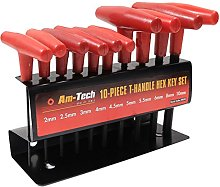 10Pc T-Handle Hex Key Set - Small to Large Expert