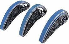 10Pcs 25 x 762mm Abrasive Sanding Belts for Air