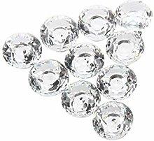 10pcs 30mm Diamond Crystal Glass Door Drawer