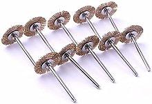 10pcs 3mm Shank Brass Wire Wheel Brushes Set