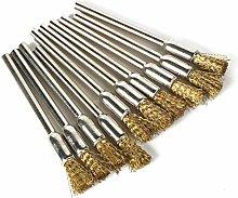 10Pcs Accessories Rotary Brush Brass Pen Shape