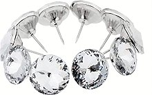 10Pcs Bright Diamond Crystal Glass Upholstery