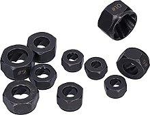 10Pcs Broken Nut Extractor Set 9-19mm Hex Remover