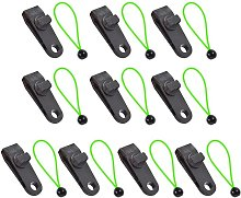 10pcs Camping Tent Clip With Rope Lock Pliers
