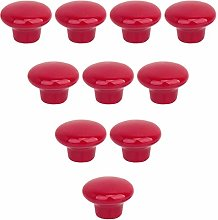 10PCS Candy Color Bright and Lovely Ceramic Round