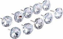 10Pcs Diamond Crystal Upholstery Nails Button