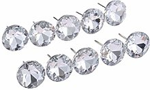 10Pcs Diamond Crystal Upholstery Nails Buttons