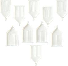 10Pcs Diamond Painting Accessories White Tray