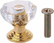 10PCS Diamond Shape Crystal Glass Cabinet Knob