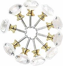 10pcs Drawer Knob Pull Handle 40mm Crystal Glass