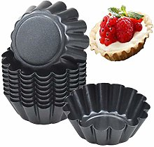 10pcs Egg Tart Tin, 6.5cm x 2.3cm Cupcake Cup