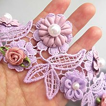 10pcs Fabric Flowers for Crafts Pearl Beaded