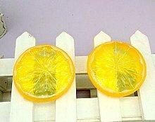 10pcs Fake Lemon Slice Garnish Artificial Fruit