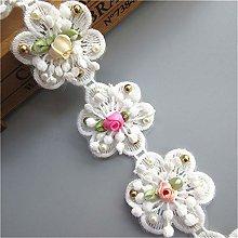 10pcs Flower Cotton Floral Lace Ribbon Edge Trim