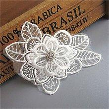 10pcs Flower Lace Ribbon Edge Trim with Diamond