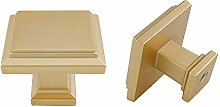 10Pcs goldenwarm Brushed Brass Cabinet Hardware