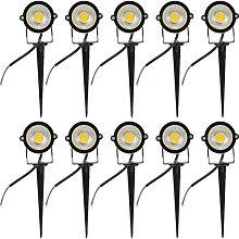 10pcs In- Ground Lights Low Voltage Landscape LED