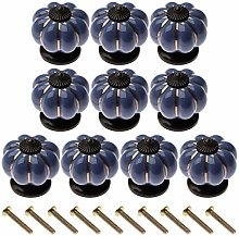 10Pcs Knobs Ceramic Pumpkin Door Handle Pulls