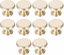 10Pcs Knobs for Chest of Drawers Brass Round
