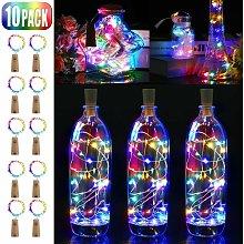 10pcs LED Bottle Light, 20 LED 2M String Lights