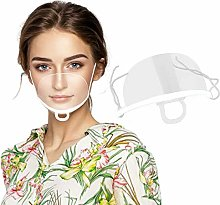 10PCS Mouth Shield, Transparent Plastic Shield