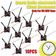 10PCS Radio Controlled Ticking Quartz Clock