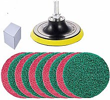 10Pcs Scouring Pads Cleaning Kit for Drill, Kagni