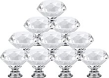 10Pcs/Set 30mm Diamond Shape Design Crystal Glass
