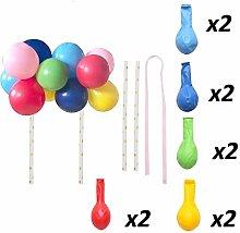 10pcs/Set 5 Inch Balloon Cake Topper Rose Gold