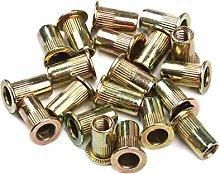 10PCS/Set Carbon Steel Rivet Nuts M3 M4 M5 M6 M8