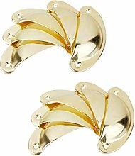 10pcs Shell Cup Pulls Kitchen Cabinet Cupboard