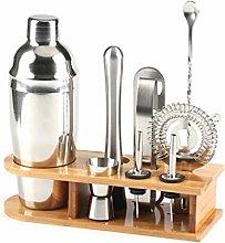 10Pcs Stainless Steel Bar Cocktail Shaker Set