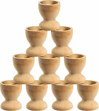 10pcs Wooden Egg Cup DIY Wooden Egg Displays