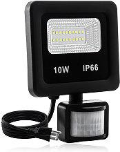 10W LED Motion Detector Floodlight, Super Bright