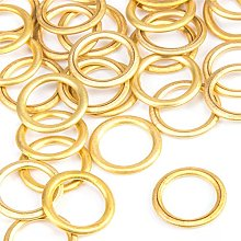 10x Brass Hollow Palstic Rings 16mm Upholstery