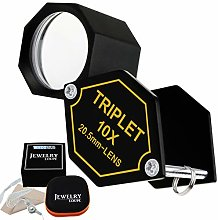 10x Magnification Jewelery Loupe, 20.5mm Triplet